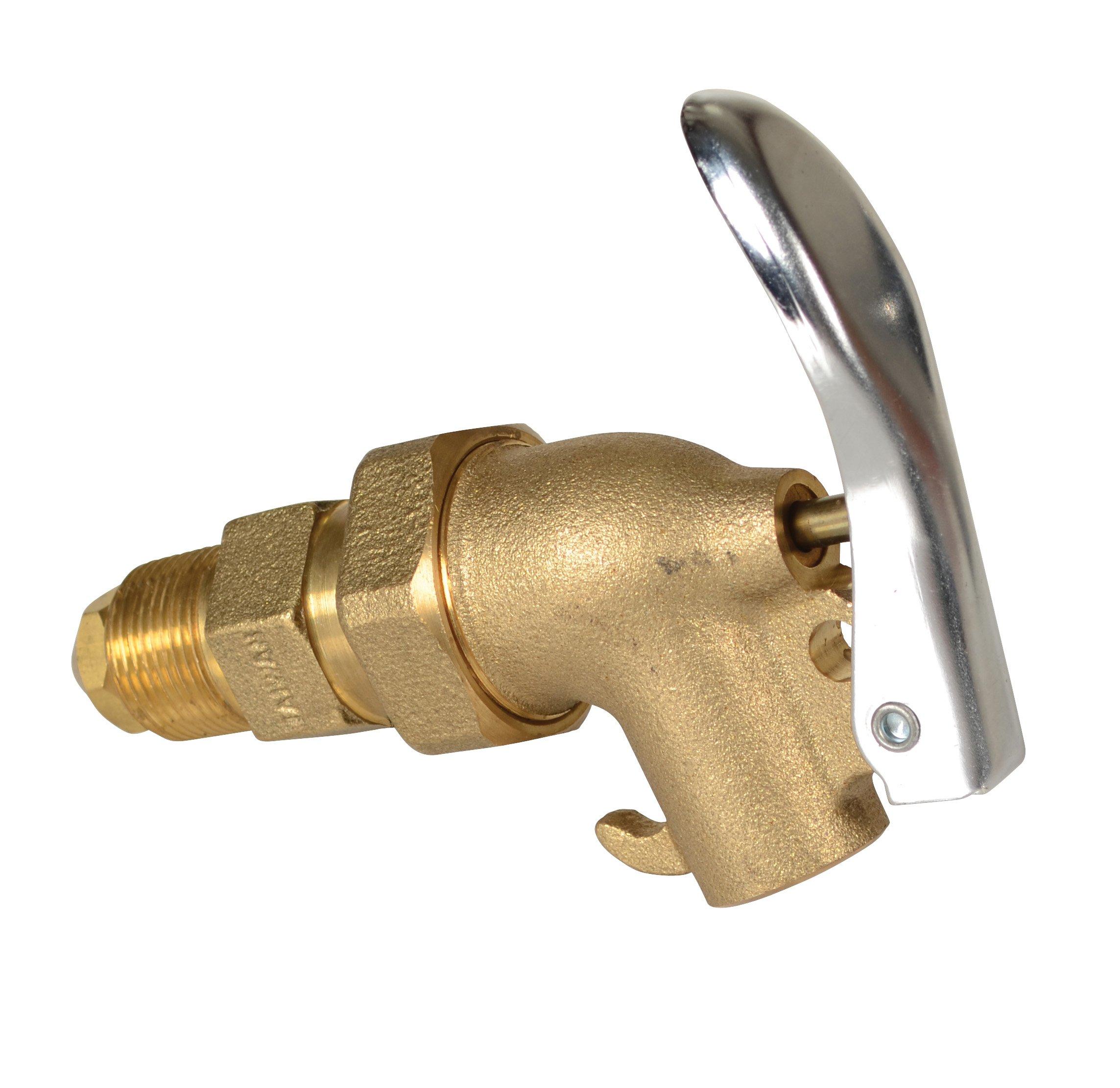 Vestil DFT-ADJ Brass Manual Drum Faucet with