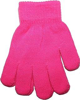 Kids Children Neon Colour Thermal Magic Fluorescent Winter Warm Stretch Gloves
