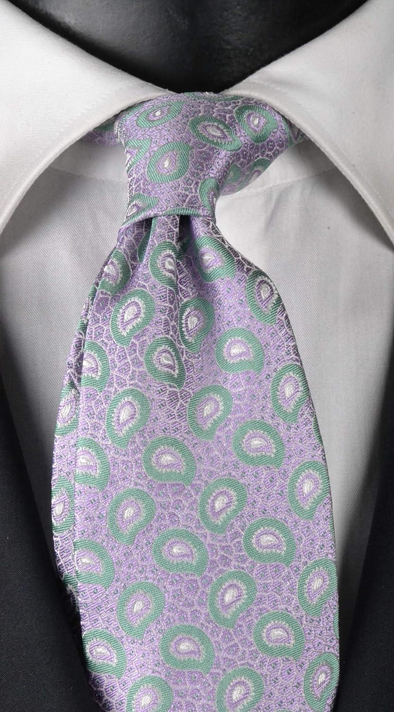 Corbata hombre siete pliegues exclusiva textura lila diseño ...