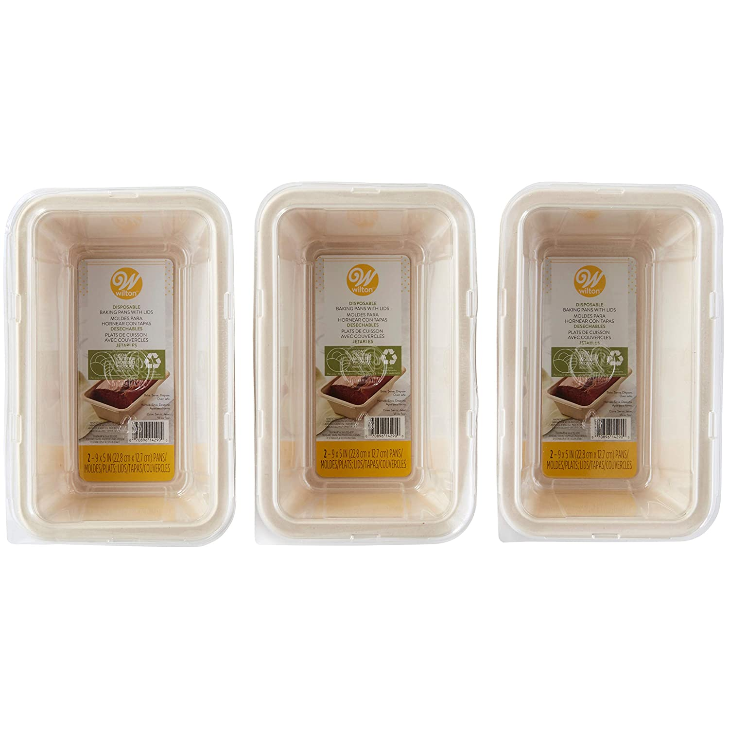 Amazon.com: Wilton Disposable Loaf Baking Pans With Lids, 6-Count: Kitchen & Dining