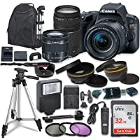 Canon EOS Rebel SL2 Digital SLR Camera with Canon EF-S 18-55mm is STM & 75-300mm III Lens + Sandisk 32GB SDHC Memory Card, Backpack and Accessory Bundle