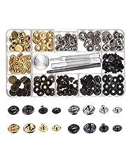 Botones de Presión de Cobre Corchetes de Presión de Ropa sin Coser 39 Set con Herramiento