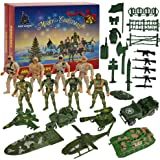 Ogrmar Christmas 2021 Advent Calendar Kids 24 Days Countdown Calendar with Military Soldier Army Man Toys for Kids