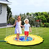 "Sprinkler Pad & Splash Play Mat for Kids, 68"" Toddler Sprinkler Water Toys Inflatable Outdoor Swimming Pool Toy for Boys Girls, Undersea Animal"