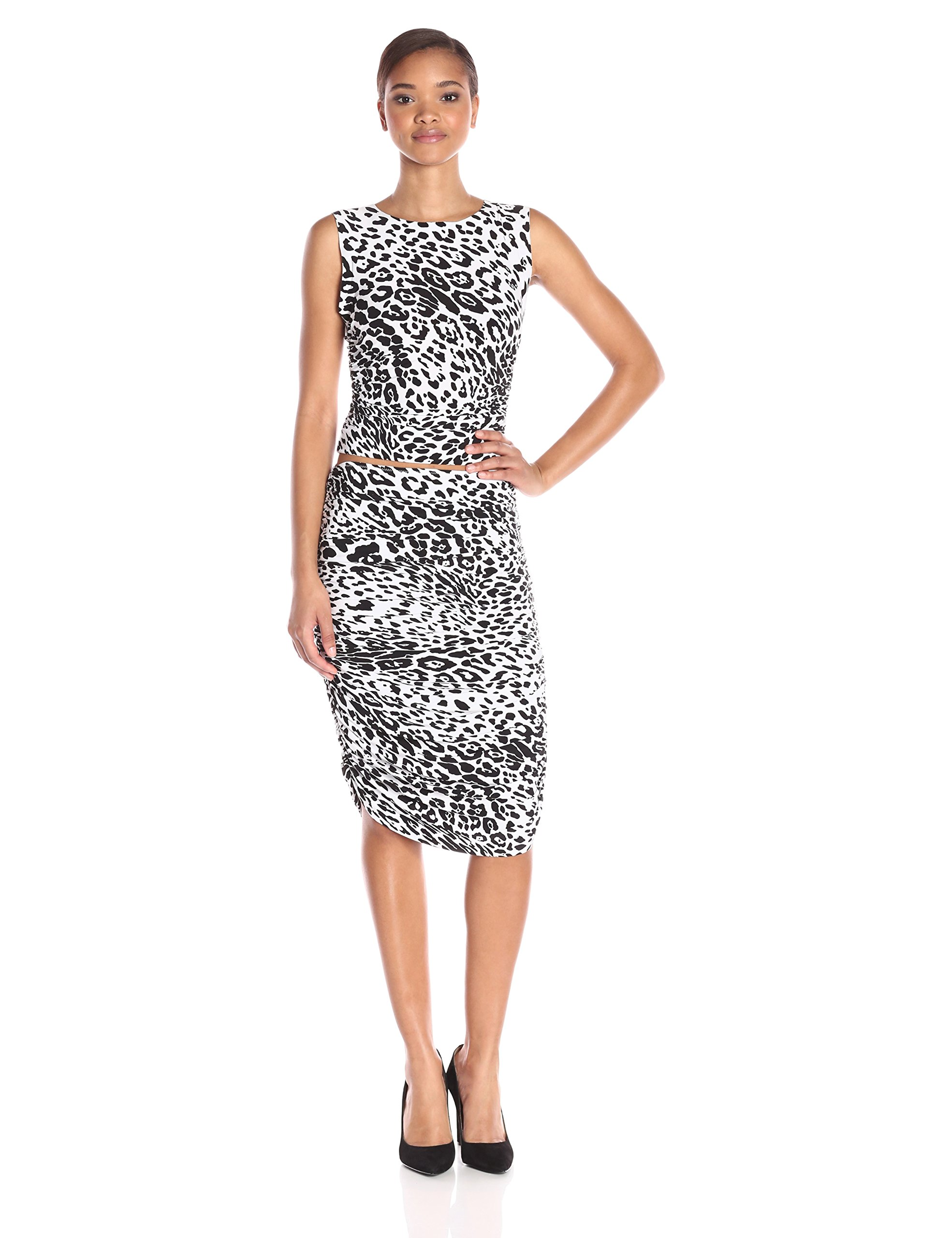 Norma Kamali Women's teaser Dress Two Piece Set, Leopard, Medium by Norma Kamali