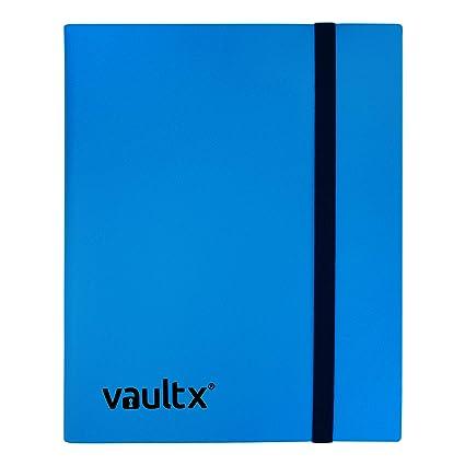 Vault X® Carpeta - Álbum de 9 Bolsillos para Cartas Coleccionables - 360 Bolsillos de Inserción Lateral para TCG (Azul)