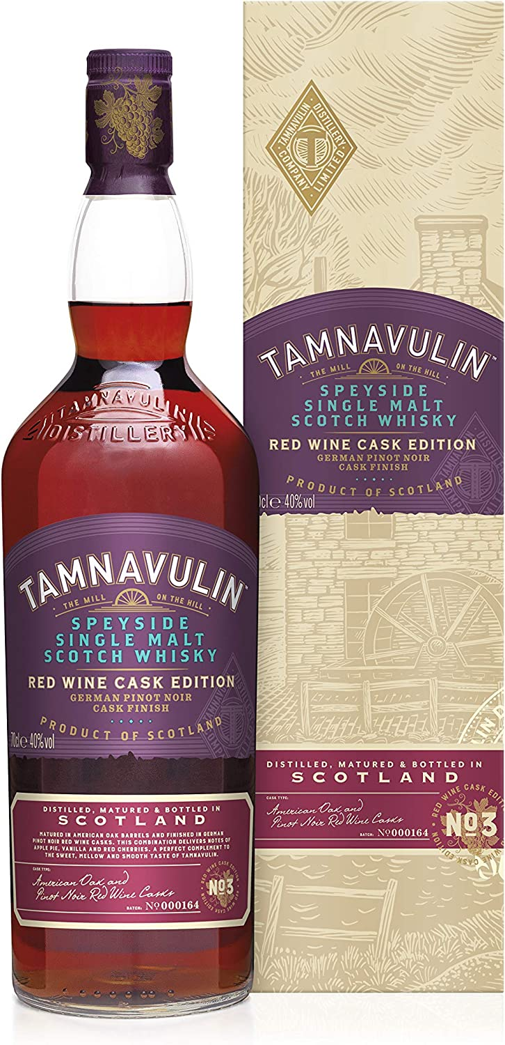 Tamnavulin Speyside Single Malt Scotch Whisky German Pinot Noir Red Wine Edition 70cl Amazon Co Uk Grocery