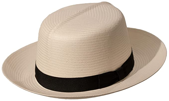 New Edwardian Style Men's Hats 1900-1920 Levine Hat Co. Mens Casa Blanca Optimo Crown Panama Straw Dress Hat $109.00 AT vintagedancer.com