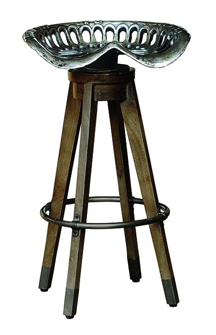 Amazon Com Pulaski Antique Swiveling Metal Tractor Seat Barstool