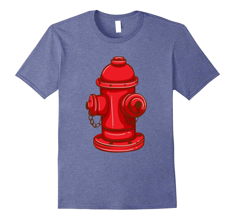 Fire Hydrant Shirt Funny Firefighter Firetruck Water Hose-T-Shirt