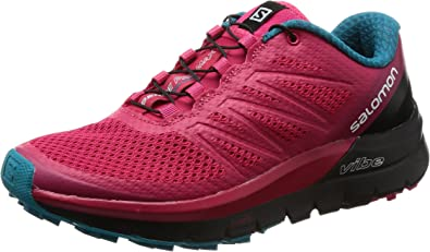 Salomon Sense Pro MAX W, Zapatillas de Trail Running para Mujer, Rosa (Virtual Pink/Black/Enamel Blue 000), 36 2/3 EU: Amazon.es: Zapatos y complementos