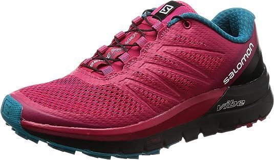 Salomon Sense Pro MAX W, Zapatillas de Trail Running para Mujer, Rosa (Virtual Pink/Black/Enamel Blue 000), 36 2/3 EU: Amazon.es: Zapatos y complementos