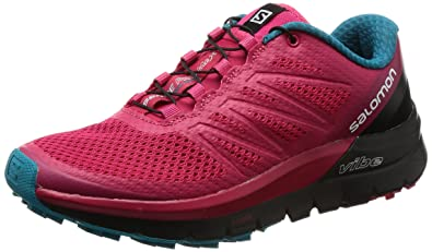 Salomon Damen Sense Pro Max W Traillaufschuhe, Pink (Virtual Pink/Black/Enamel Blue 000), 37 1/3 EU