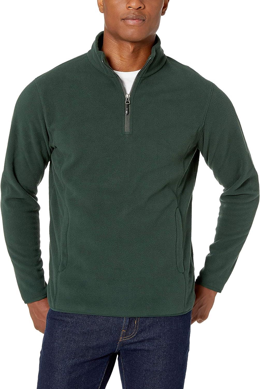 Essentials Mens Quarter-Zip Polar Fleece Jacket