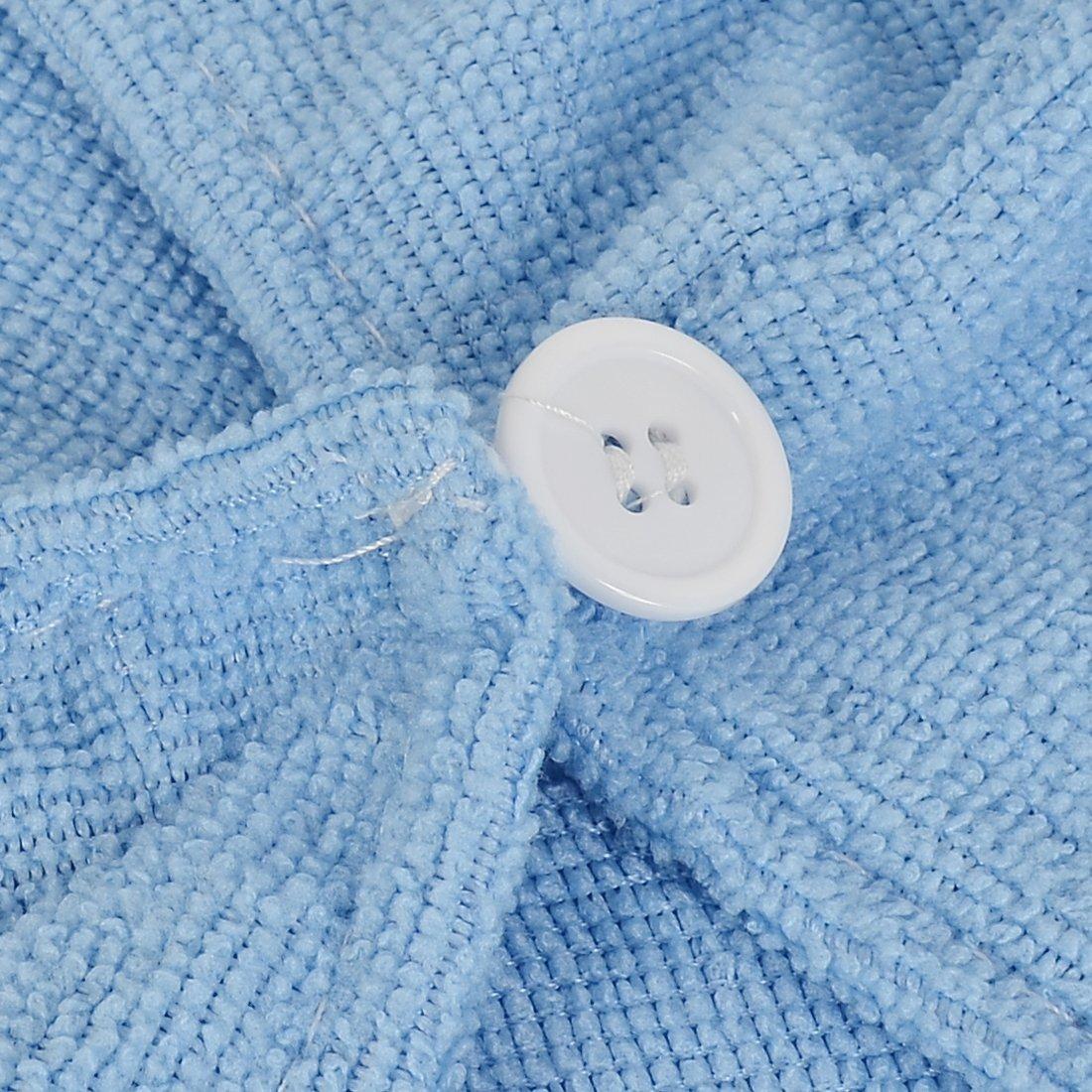 Amazon.com: Azul eDealMax viaje de baño Piscina Quik toalla de sequía de Pelo del Abrigo seco del casquillo del Sombrero 3pcs: Health & Personal Care