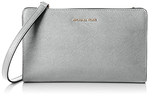 064d375ac9a2 Michael Kors - Jet Set Travel Large Crossbody Clutch, Optic White:  Amazon.co.uk: Clothing