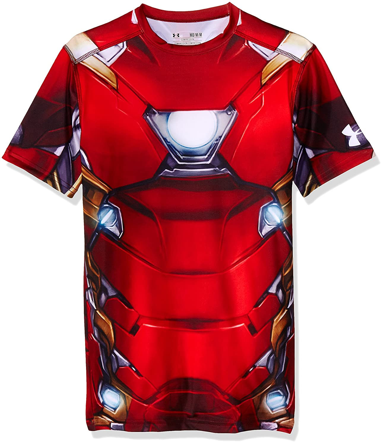 Under Armour Men 's Alter Ego Iron Man圧縮シャツ M