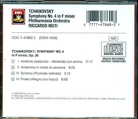 Tchaikovsky, Muti - Symphony 4 - Amazon com Music