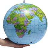 Gifts 4 All Occasions Limited SHATCHI-961 Inflatable World Globe Earth Map Geography Teacher Aid Ball Toy Gift 38cm/15, Multi