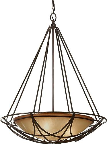Feiss F2607/3MBZ El Nido Glass Uplight Bowl Pendant Lighting