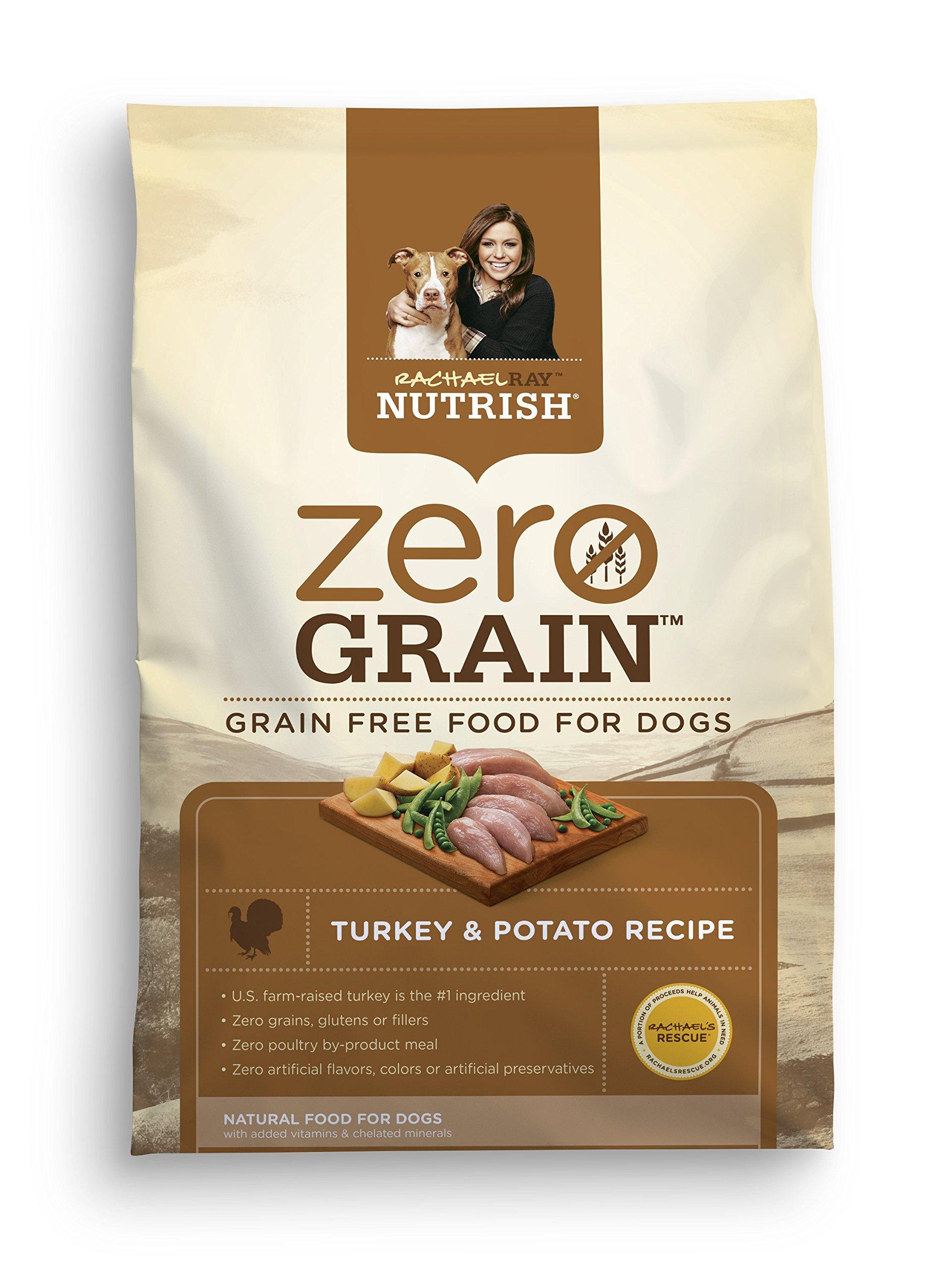 Rachael Ray Nutrish Zero Grain Natural Dry Dog Food Turkey & Potato, Grain Free
