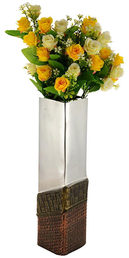 317 & Woodenclave Aluminum Antique Flower Vase: Amazon.in: Home ...
