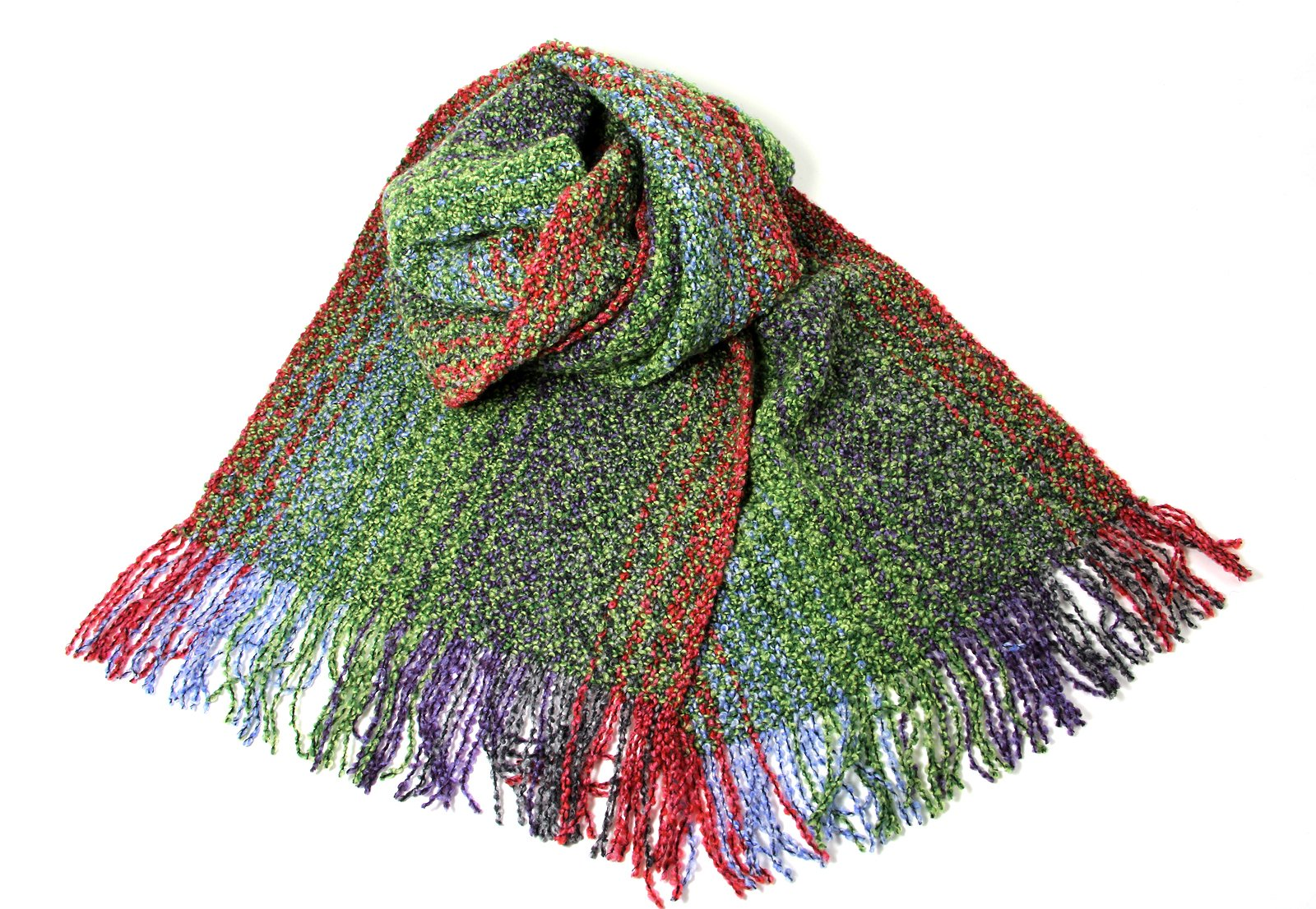 Biddy Murphy Irish Scarf Merino Wool and Cashmere Blend 62 Inches Long by 9 Inches Wide Green Made in Ireland by Biddy Murphy