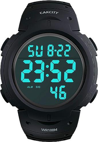 Amazon.com: CakCity - Reloj digital para hombre, resistente ...
