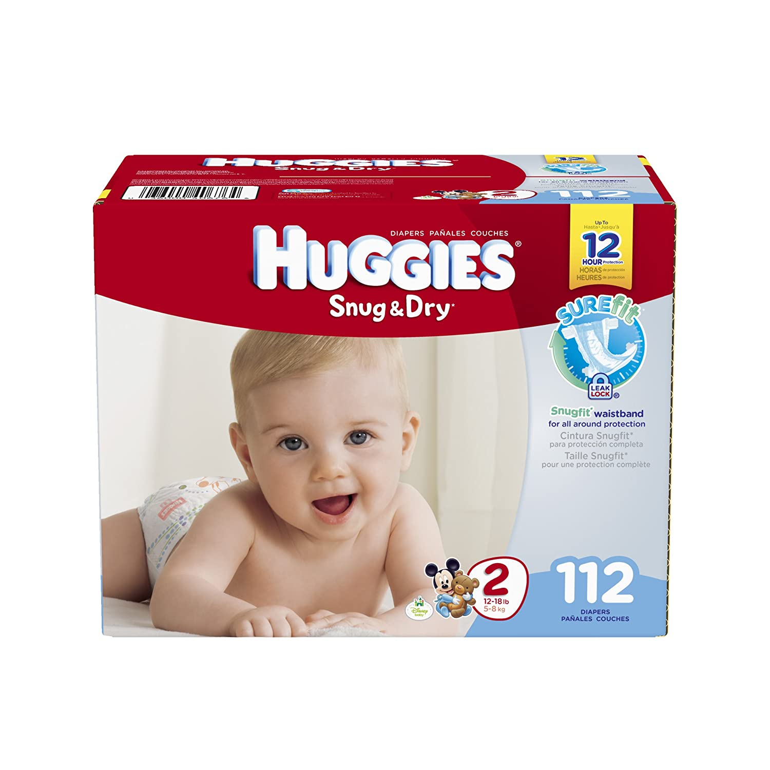Amazon.com: Huggies Snug and Dry Diapers, Size 2, 112 Count: Health & Personal Care