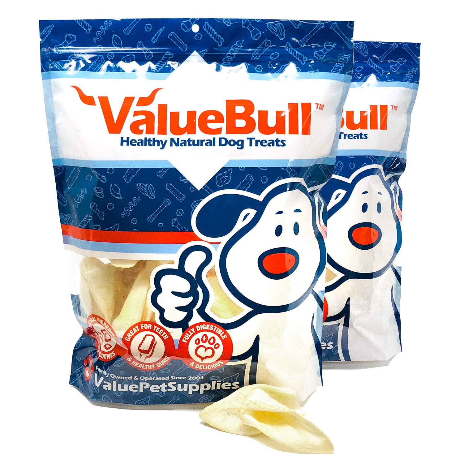 ValueBull USA Premium Lamb Ears Dog Chews, 100 Count