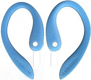 EARBUDi Ear Hooks, Adjustable Rubber Ear Loops, Made for Wired EarPods, Compatible with Apple EarPods, Blue