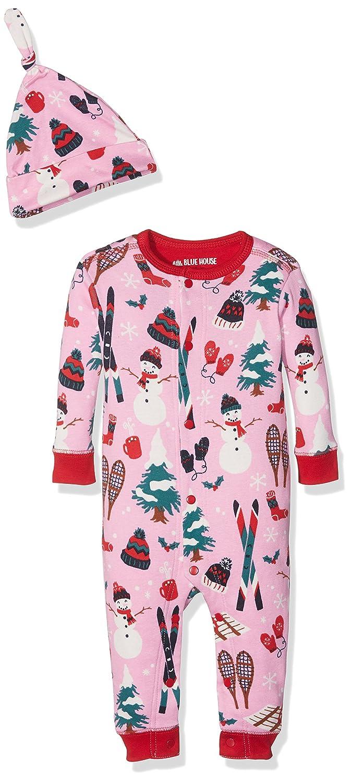 Hatley Sleepsuits & Cap, Pelele para Dormir para Bebés Little Blue House by Hatley