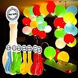 YOHOOLYO 50 x Palloncini LED Palloncini Luminosi Luce Led Multicolori da 30cm per Decorazione Natale Festa Matrimonio Compleanno ecc