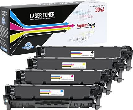 CS Compatible Toner Cartridge Replacement for HP CP2025 CC531A Cyan HP 304A Color Laserjet CM2320 CM2320N CM2320NF CM2320FXI CP2025 CP2025N CP2025X CP2020 CM2320MFP CP2026