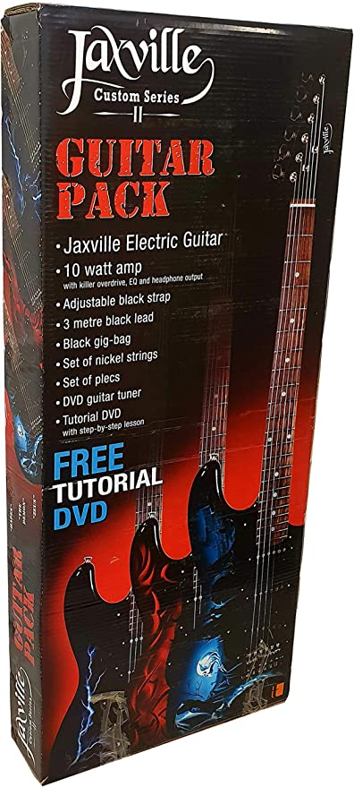 Pack de guitarra electrica Jaxville ST1HDPK amplificador, funda, cable, cuerdas y puas de recambio: Amazon.es ...