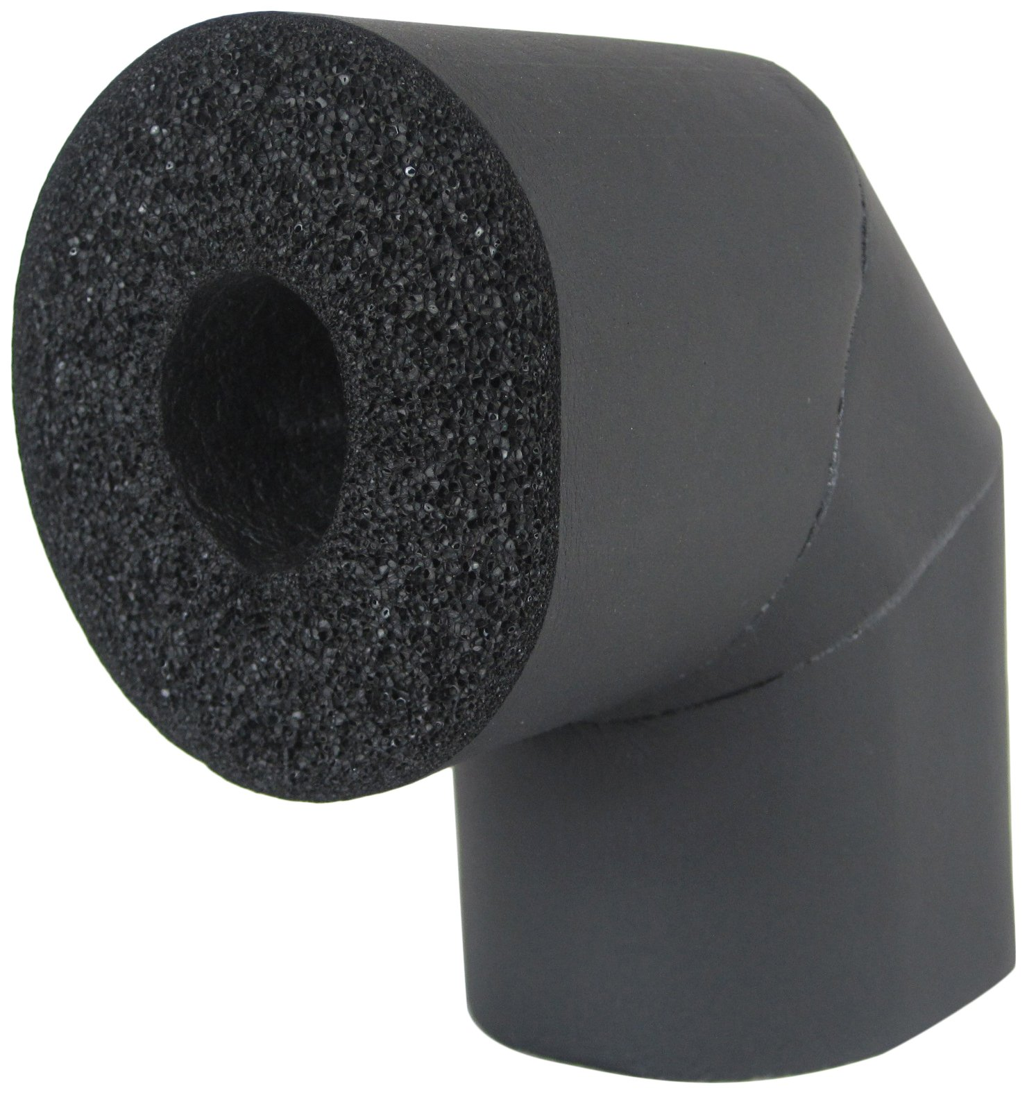 K-Flex 801-LRE-100258 Closed Cell Elastomeric Insulation, 90 degree Elbow, 2-5/8'' Nominal Insulation ID, 1'' Wall Thickness, Black (Pack of 11)