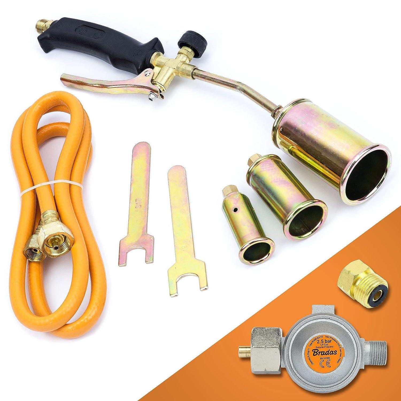 Gasbrenner Dachbrenner Gaslötgerät Abflammgerät Brenner Gasdruckregler SN0286R2 Sellnet