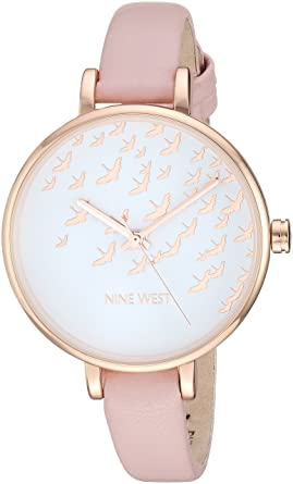 Buy Nine West Women S Nw 2134rgpk Rose Gold Tone And Pink Strap