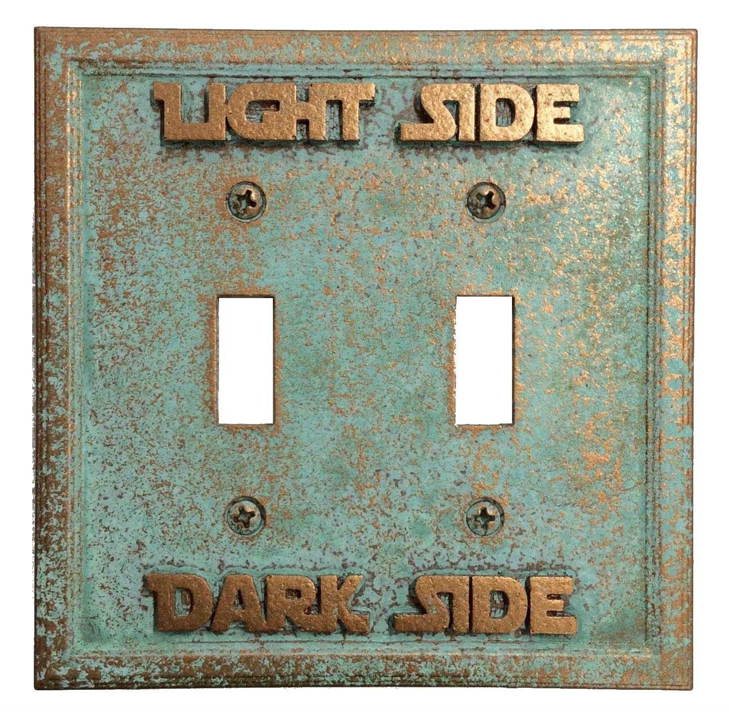 Star Wars (Light/Dark Side) Double Light Switch Cover (Patina)