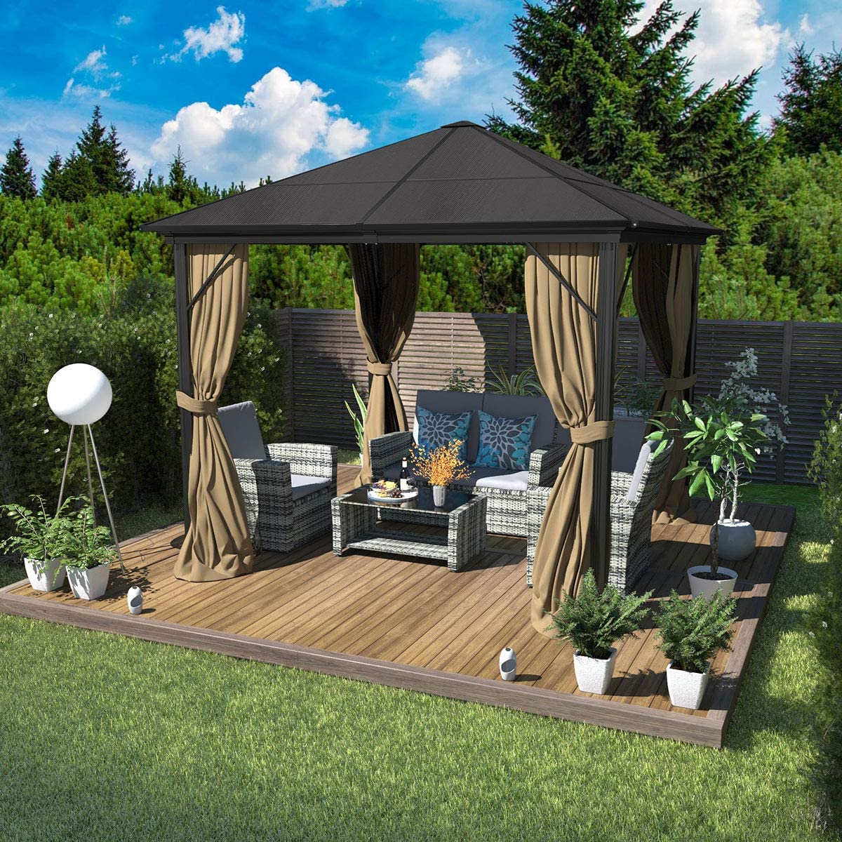 YITAHOME 10X10 ft Outdoor Canopy Gazebo