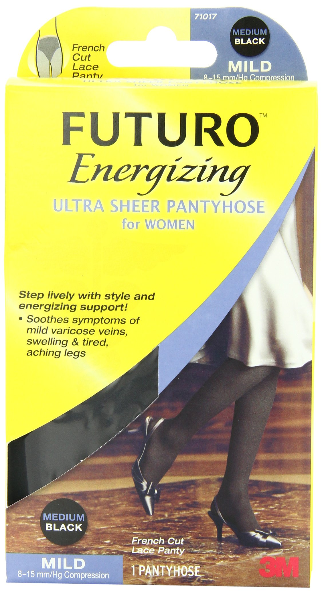 b70b0cd281d Amazon.com  Futuro Energizing Ultra Sheer Pantyhose for Women