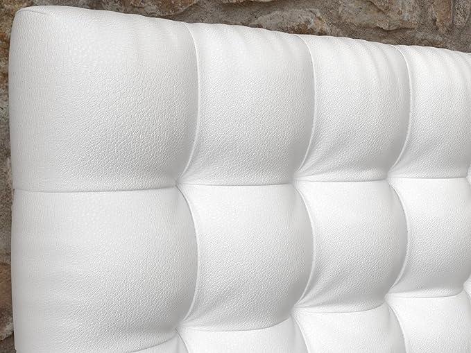 LA WEB DEL COLCHON - Cabecero Manhattan (Cama 90) 100 x 70 cms. 00 - Blanco: Amazon.es: Hogar