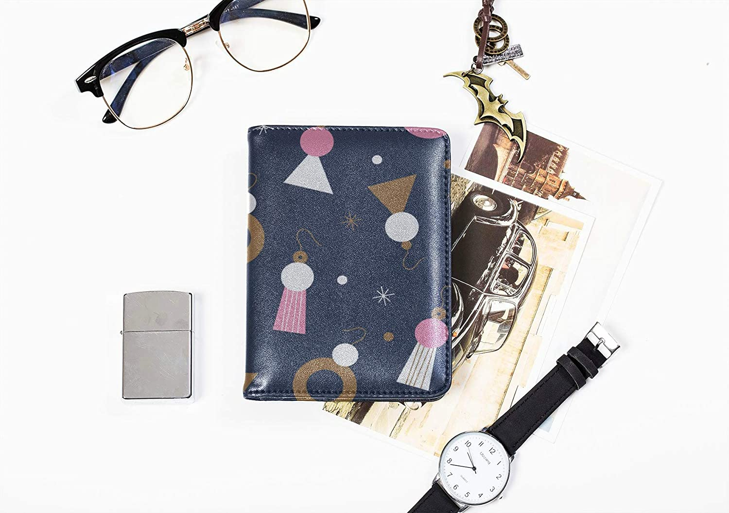 Leotruny Passport Holder Cover Fashion Beautiful Noble Jewelry Earrings Passport Cases For Kids Multi Purpose Print Vintage Passport Cover Travel Wallets For Unisex 5.51x4.37 Inch