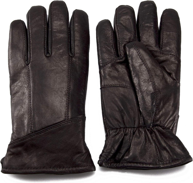 Nordvek Men/'s Soft Genuine Leather Winter Gloves With Sheepskin Lined Cuff # 302-100
