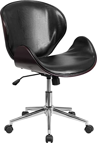 Flash Furniture Mid-Back Mahogany Wood Conference Office Chair
