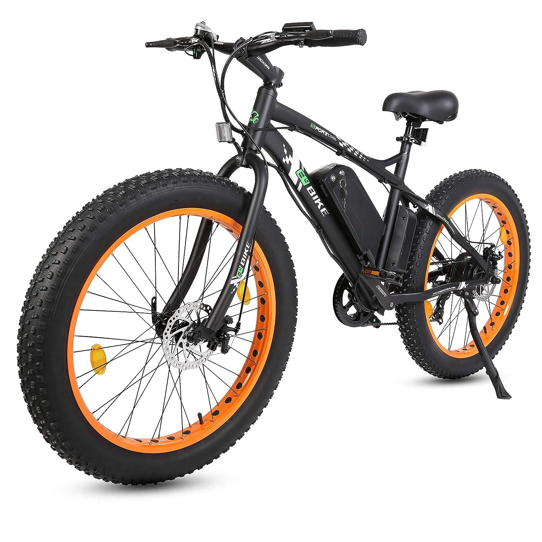 Electric Fat Bike >> Amazon Com 26 Black New Electric Fat Tire Bike Beach Snow Bicycle