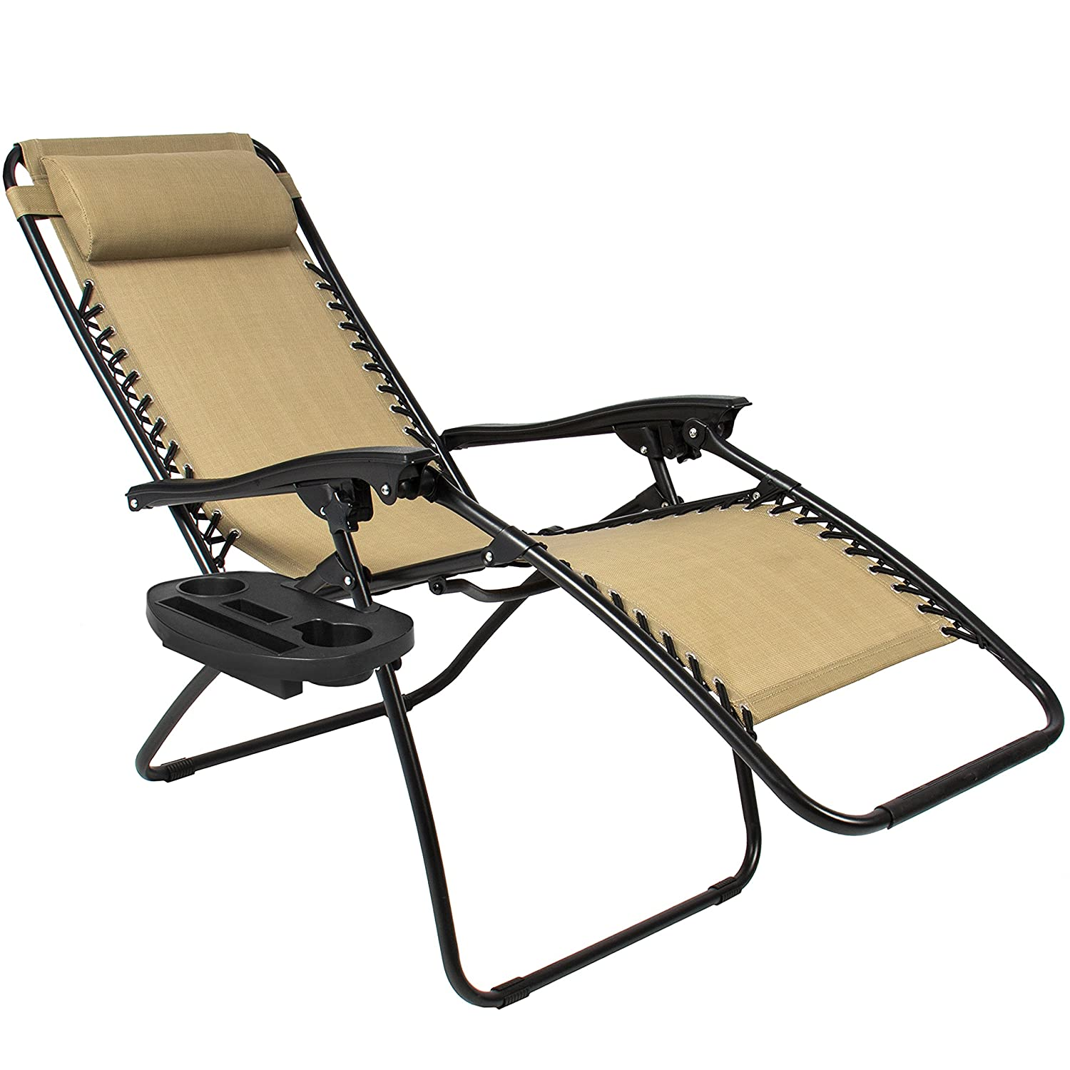 Amazon Best ChoiceProducts Zero Gravity Chairs Tan Lounge
