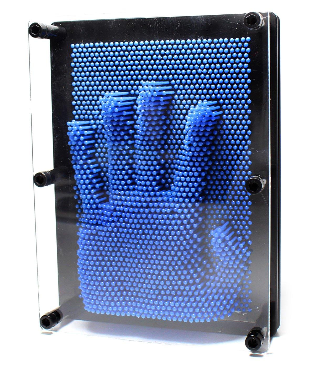 PowerTRC Novelty Pin Point Impressions Pin Art (Blue)