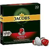 Jacobs Kapseln Lungo Classico - Intensität 6 - 200 Nespresso (R)* kompatible Kaffeekapseln aus Aluminium (10 x 20 Kapseln)