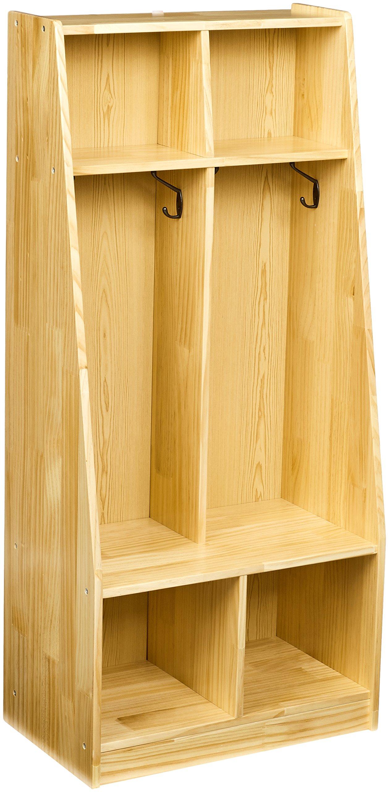 AmazonBasics Coat Locker, 2-Section with Bench